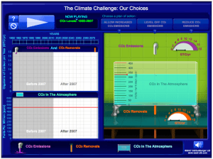 """Test your understanding of the """"carbon bathtub"""" with our simulation."""